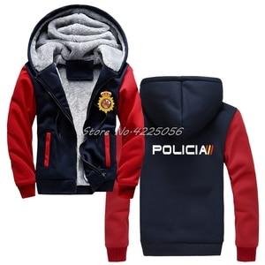 Image 1 - Espana Policia ספרד לאומי משטרת Espana Policia נים מהומות Swat כוחות מיוחדים סווטשירט גברים כותנה לשמור על מעילים חמים