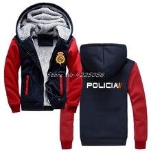 Espana Policia Tây Ban Nha Cảnh Sát Quốc Gia Espana Policia Khoác Hoodie Bạo Loạn SWAT Lực Lượng Đặc Biệt Áo Cotton Nam Giữ Ấm Áo
