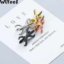 WLYeeS 2pcs Black zircon Double Claws Charm Copper bead Pave CZ Metal Spacer Loose For Jewelry bracelet Necklace Making DIY