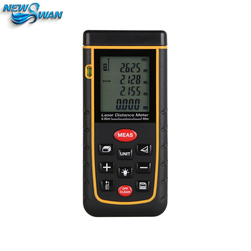 Digital Laser distance meter Bigger Bubble level tool Rangefinder Range finder Tape measure 40m Area/Volume Angle Tester цена 2017