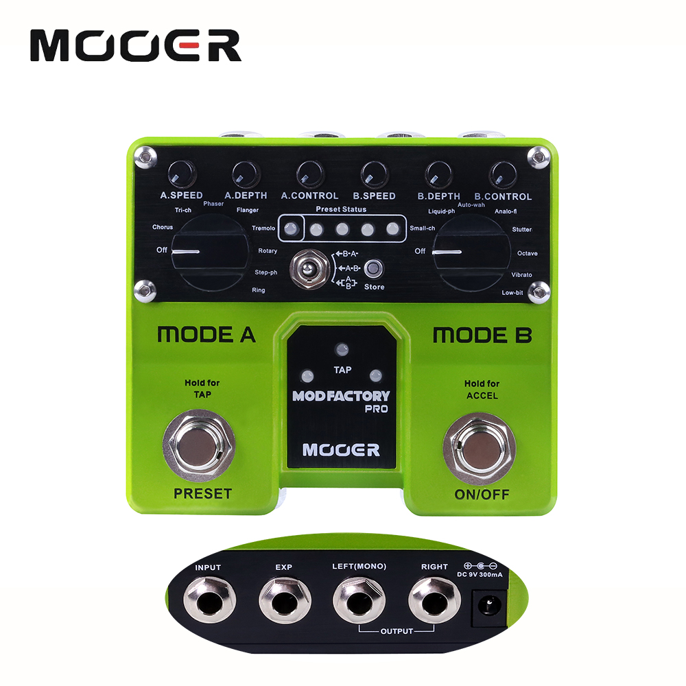 Mooer Mod Factory Pro Modulation Guitar Effect Pedal With 4 Digital Presets Effect 16 Modulation Effects TME1 mooer mod factory modulation guitar effects pedal true bypass with free connector and footswitch topper