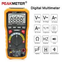 PEAKMETER PM8236 Digital Multimeter Tester AC DC Voltage Multimeter Temperature Capacitance Frequency Multi Meter Tester