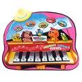 Crianças Bebê Jogar Esteiras Cobertor Animal Dos Desenhos Animados de Pano Do Bebê Musical Educacional Toy Musical Jogo do Jogo Atividade Tapete