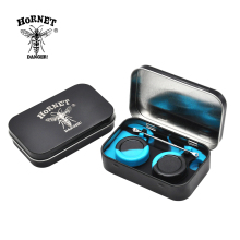 [HORNET] 1 Set 4 in 1 Dab Wax Containers and Silicone Jar in Tin Holder Non-Stick Oil Wax Jar with Stainless Steel Pick Tool