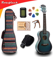 23 inch Ukulele Mahogany Mini Hawaii Guitar Tuner Capo Bag Strings Strap 6 Picks Gift Electric Guitar UKE Music Concert UK2329B