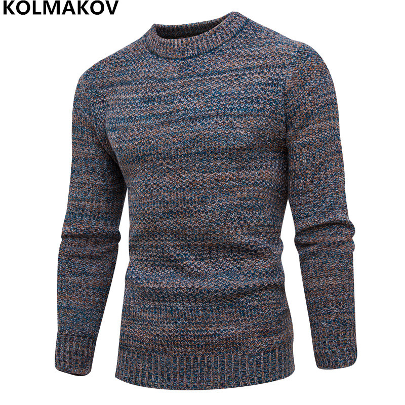 2018 New Mens Knitting sweater Men dress Winter Casual Mens Cotton Knitted Sweaters Man Slim fit Warm Pullovers Knitwear M-3XL