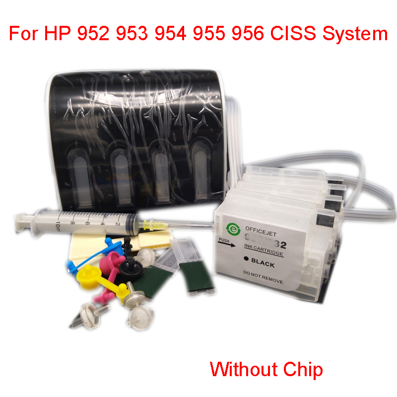 einkshop For <font><b>HP</b></font> 952 953 <font><b>954</b></font> 955 956 CISS Ink System Without Chip For <font><b>HP</b></font> Officejet Pro 8730 8740 8735 8715 8720 8725 Printer image