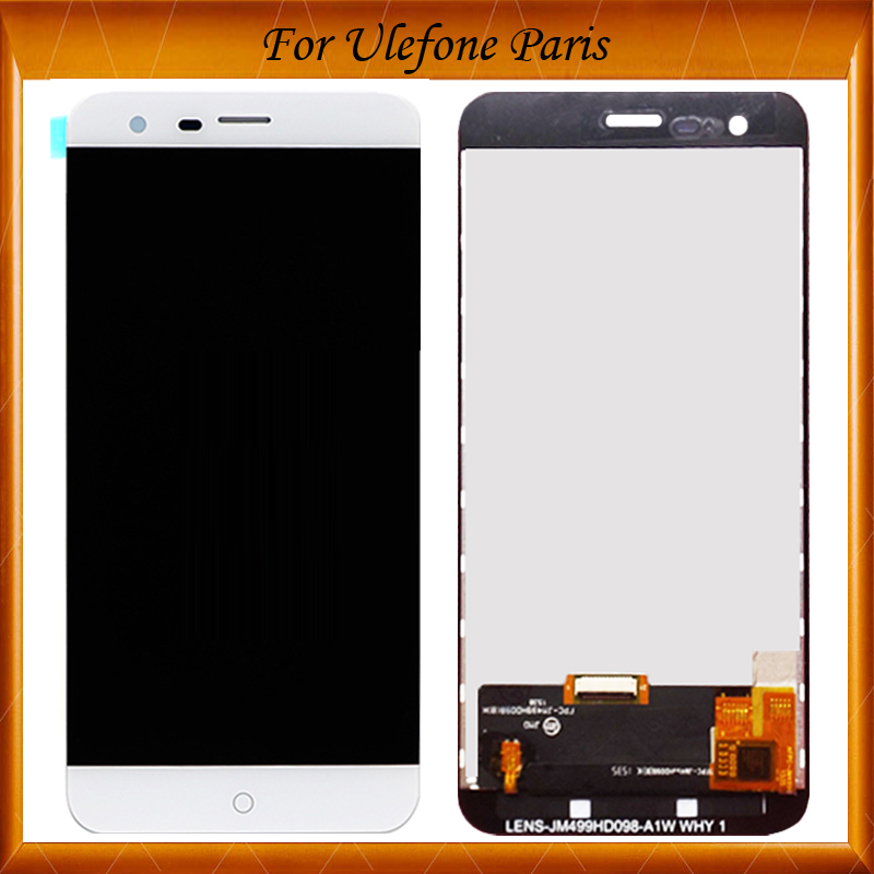 100% New original Touch Screen LCD Display LCD Screen For Ulefone Paris Replacement Parts Black White Color IN Stock