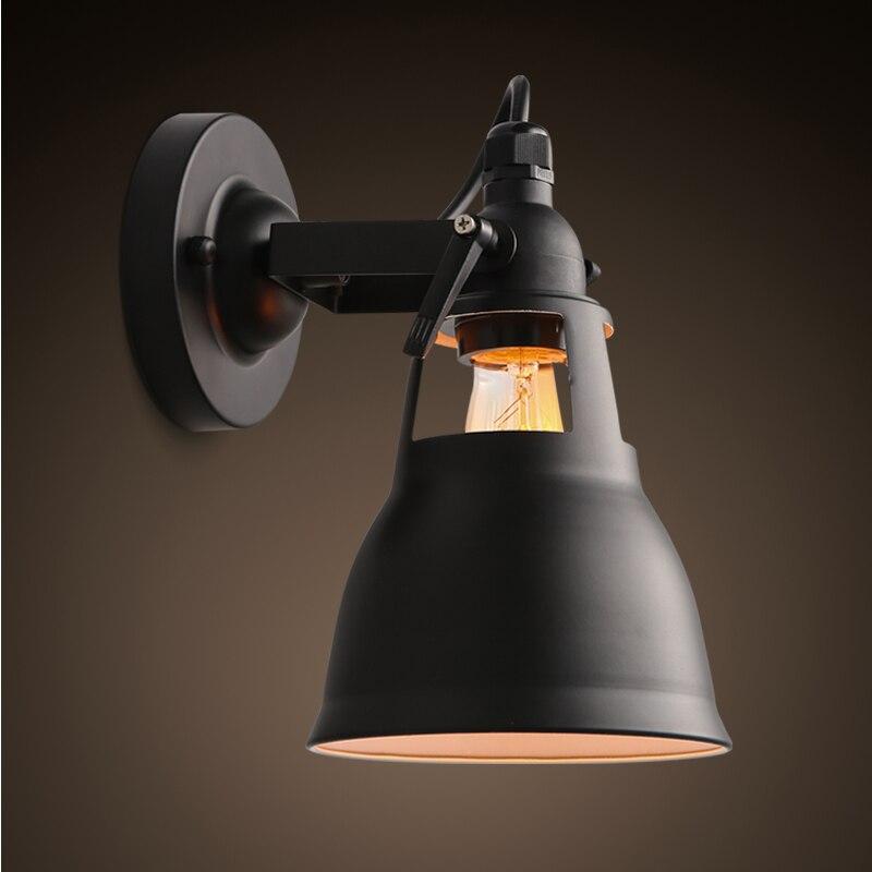Стиле лофт черный металл бра столовая украшения света исследование света кофейня свет бесплатная доставка