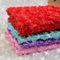 New 4 Color Baby Photography Props 3D Stereo Rose Flower Blanket Backdrop Beanbag Blanket Rug 140*97 Cotton Spandex