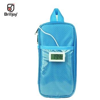 2018 Insülin çantası Büyük Boy Taşınabilir Yalıtımlı Soğutucu Çanta Diyabetik Insülin Seyahat Çantası soğutucu kutu 2 adet buz jeli ve termometreler