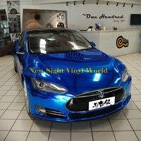 High Quality Flexible Mirror Chrome Blue Vinyl Car Body Wrap Sticker For Car Decal Air Bubble Free
