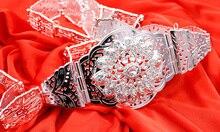 Fashion Women Rhinestone Body Belly Metal Waist Chain Belt