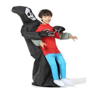 Image 5 - Disfraz inflable de la muerte para niños y adultos disfraz de Halloween, Esqueleto, fantasma