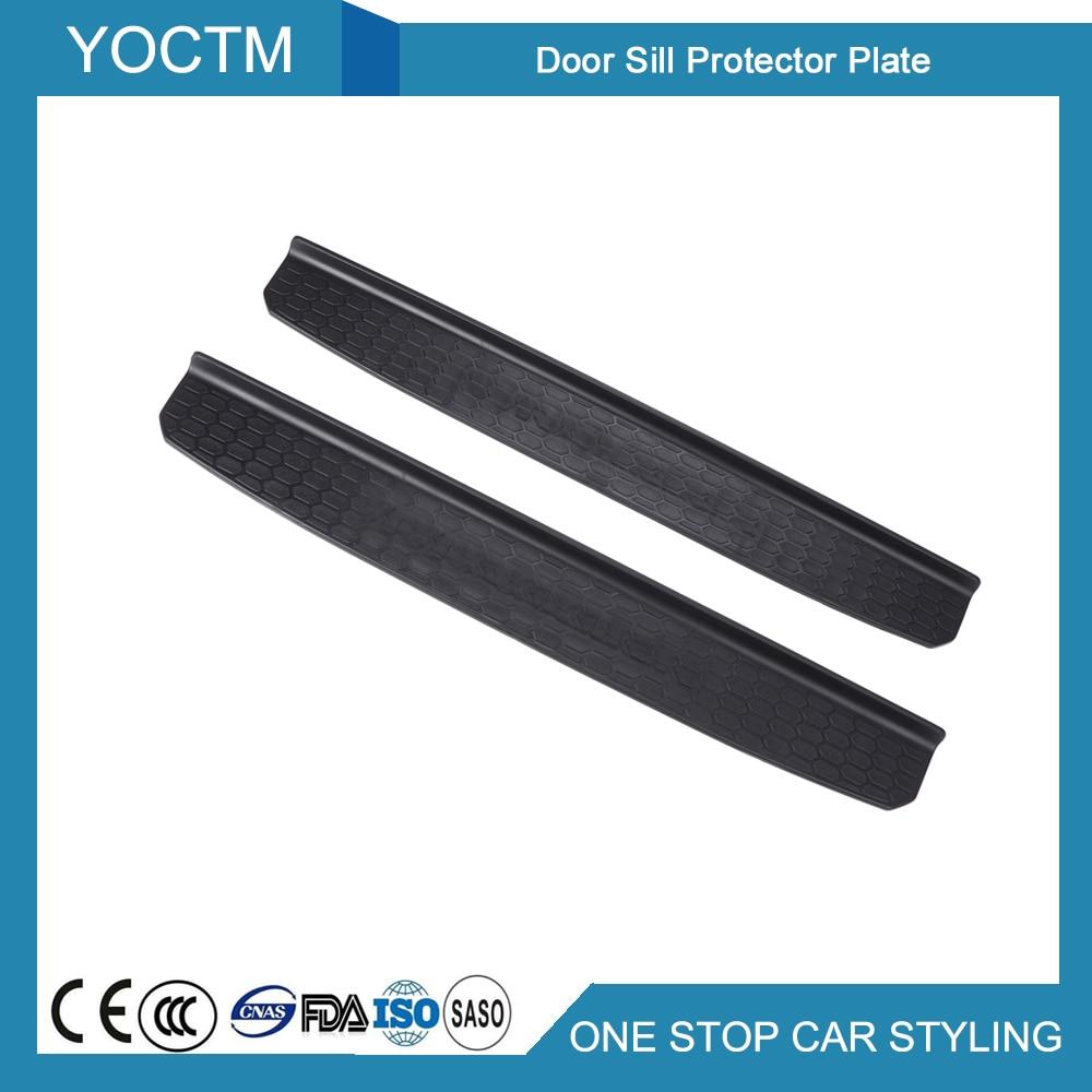 2 Door Version Durable Door Sill Scuff Plates Car Door Sill Protector Plant for Jeep Wrangler