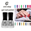 New 3 in 1 UV Nail Gel Fashion One Step LED Gel Polish 5ML Soak Off Nail Gel Varnish---No Need Base and Top Coat
