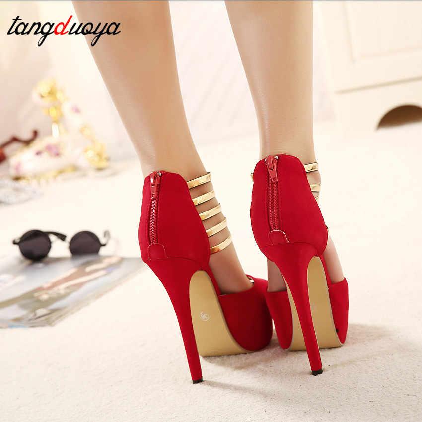 7f116125 ... Zapatos de tacón alto sexis para mujer, zapatos de boda con punta  abierta, zapatos ...