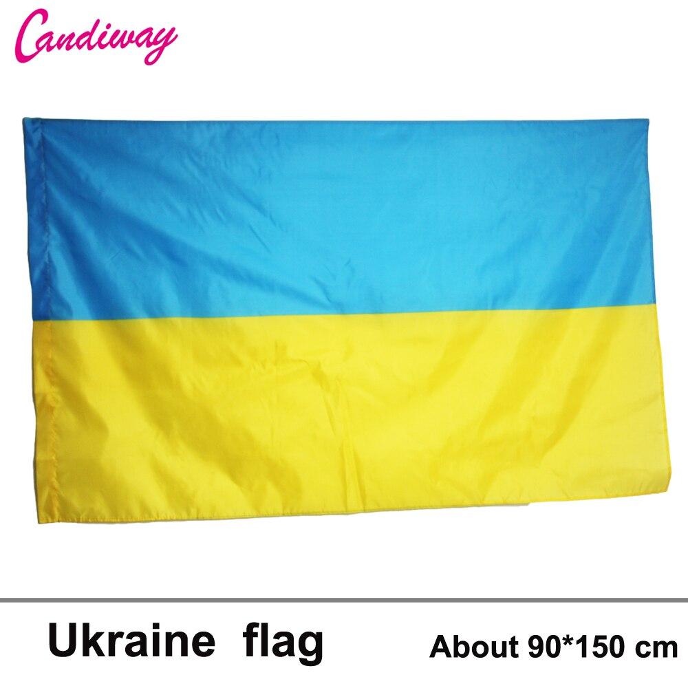 90*150cm Ukraine National Ukraine Flag Flying Flag No Flagpole Home Decoration flag banner