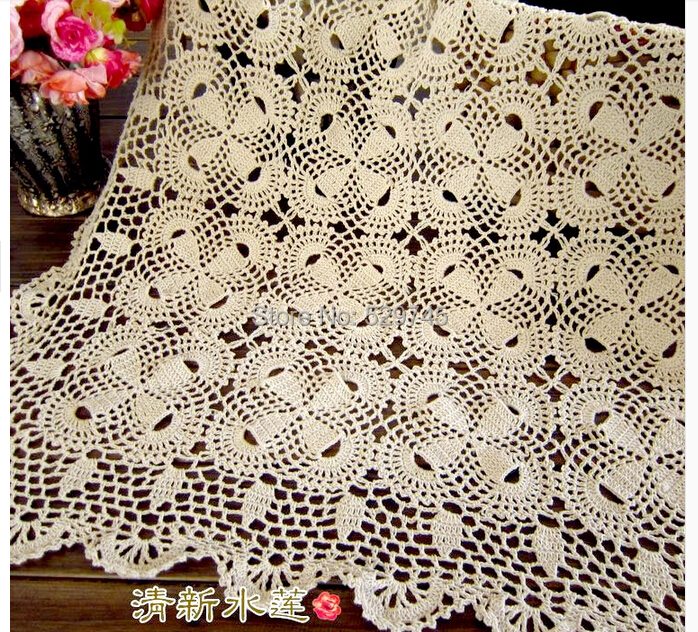 Order: 1 Piece. New Chrismas Gift Handmade Crochet Square Tablecloths  Cotton Table Cloth Placemats Decorative Cover Cloth Sofa Towel