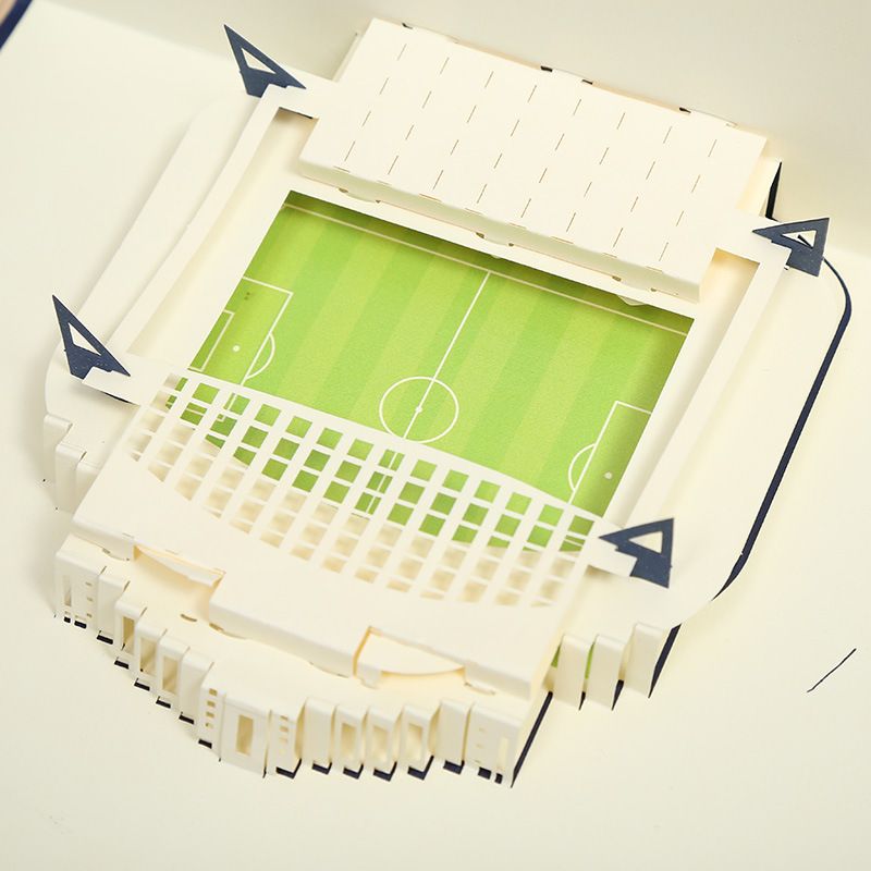 Direct manufacturers Chelsea stadium 3D three-dimensional hollow paper cards creative business invitation can be customized посуда для выпечки three can 3