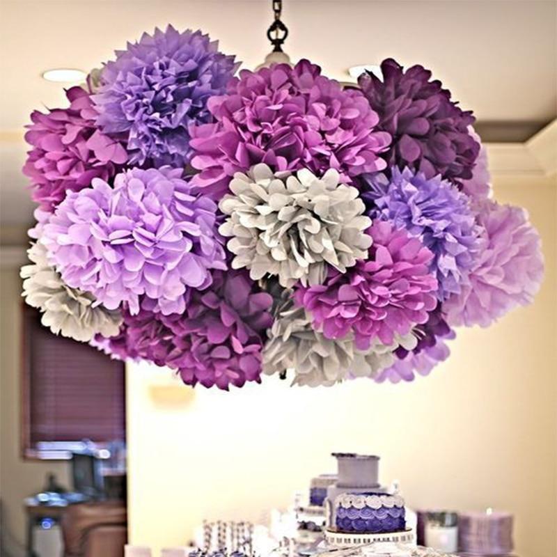 buy 4pcs 8 39 39 25cm tissue paper pom poms. Black Bedroom Furniture Sets. Home Design Ideas