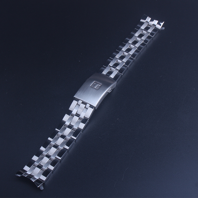 Silver <font><b>19mm</b></font> 20mm <font><b>PRC200</b></font> T17 T461 T014430 T014410 Watchband Watch strap Solid Stainless steel bracelets straps image