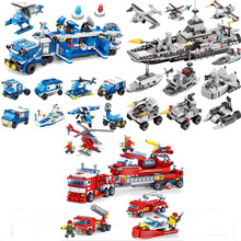 Fire Truck Heroes DIY Educational Toys For Children Car Sets DIY Bricks Compatible All Building Blocks Toys недорого