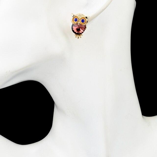 Фото toucheart новые брендовые серьги с кристаллами в виде совы для