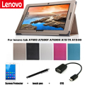 Protective Leather Case Защитной Оболочки/Кожи Для Lenovo tab A7600 A7600-F A7600-H A10-70 A10-80 Case 10.1 ''Tablet PC покоя
