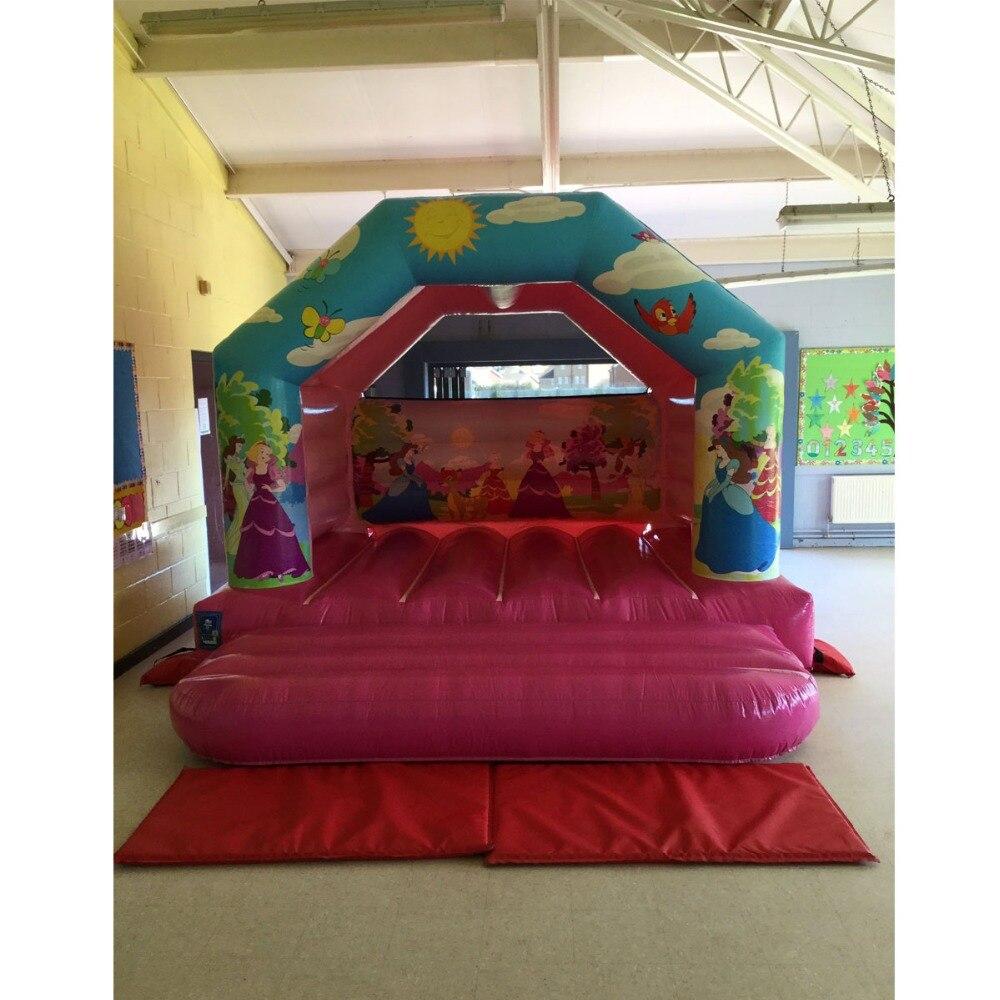 Gonflable maison gonflable princesse videur château gonflable moonwalk pour enfants utilisé extérieure et intérieure aire de jeux
