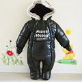 A roupa do bebê outono e inverno espessamento Romper do bebê escalada roupas macacão de bebê grosso casaco quente