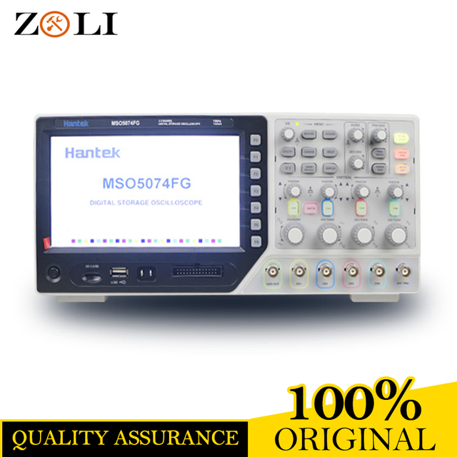 Flash Promo 2017NEWEST Hantek Oscilloscope Hantek MSO5074FG 4CH + 8CH Logic Analyzer 70MHz 1GSa/s Sample Rate MSO5074FG MSO5074FG DHL FREE