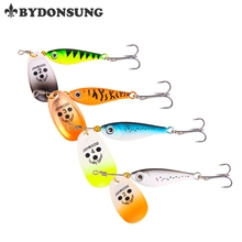 BYDONSUNG Fishing Lure Package Compound Bait Synthetic Spoon Lures Colourful Rotation Spinner Baits four Colours three Sizes
