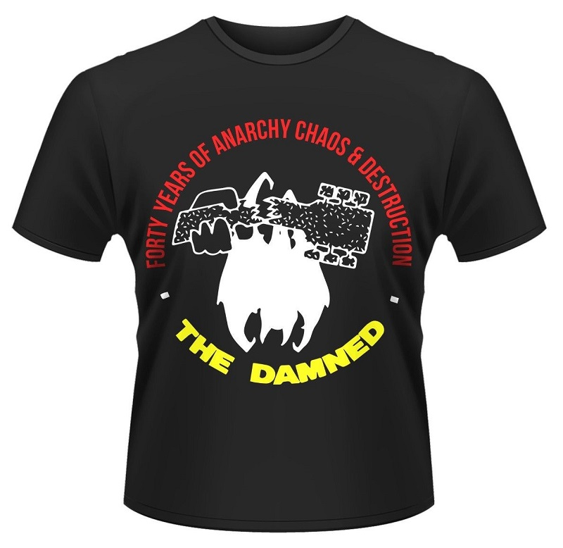 Print Tee Shirt For Male The Damned Forty Years Of Anarchy Crew Neck Men Short Sleeve Best Friend Shirts