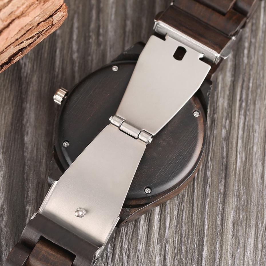 Creative Full Natural Wood Male Watches Handmade Bamboo Novel Fashion Men Women Wooden Bangle Quartz Wrist Watch Reloj de madera 2017 (45)