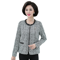 Chinese Women Elegant Blazers Smart Casual Jacket Suit Business Office Outfits Woman Round Collar Blazer Gray Jackets Suits Lady