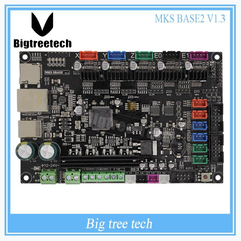 3Dpriter Smoothieware controller board MKS SBASE V1.3 opensource 32bit Smoothieboard Arm support Ethernet preinstalled heatsinks
