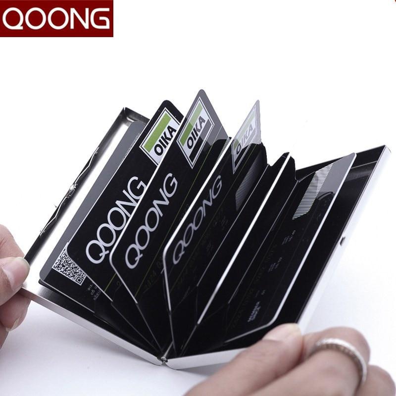 QOONG Rostfritt Stål RFID Blockering ID Bankkortet Väska Protector - Plånböcker - Foto 2