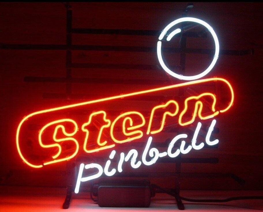 Custom Stern Pinball Game Room Glass Neon Light Sign Beer BarCustom Stern Pinball Game Room Glass Neon Light Sign Beer Bar