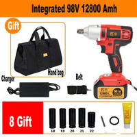 Send From Russia 98TV 12800amh Cordless Electric Wrench Impact Socket Wrench Li Battery Hand Drill Hammer Installation Tools