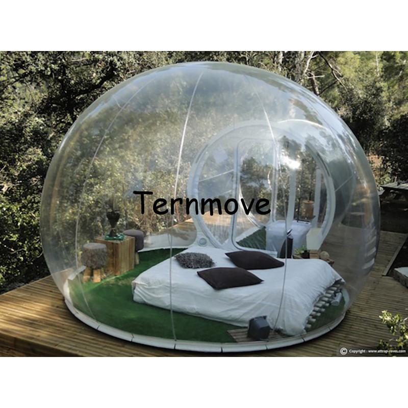 Transparent inflatable lawn bubble tent