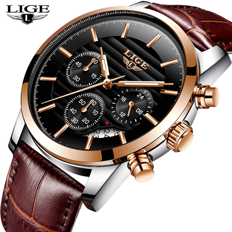 LIGE New 2018 Wrist Watch Men Watches Casual Sport Top Brand Luxury Famous Quartz Wristwatch For Male Clock Relogio Masculino sleek makeup губная помада в стике power plump lip crayon 6 оттенков губная помада в стике power plump lip crayon power pink тон 1048