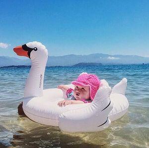 Smartlife-Anillo de natación Blanco de seguridad para bebé, juguetes hinchables de piscina de cisne, asiento de anillo para nadar, barco, silla de chico para bebé