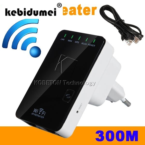 kebidumei Wireless N Router AP Repeater Booster WIFI Amplifier Extender Expander LAN Client Bridge 802.11 b/g/n 300Mbps EU/US