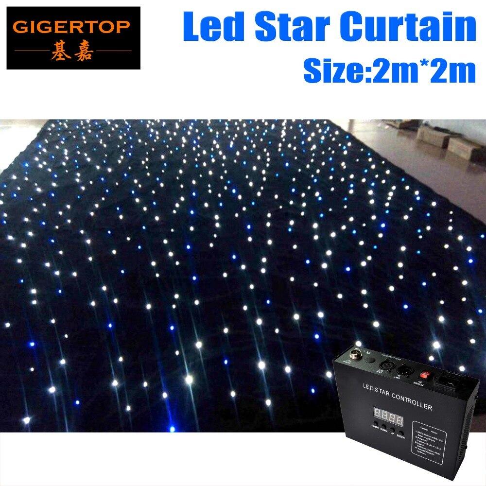 Супер дело настроить 2 м * 2 м Высокое качество RGBW/RGB Цвет Шторы привело звезда ткань с контроллером 90 в 240 В свет Шторы