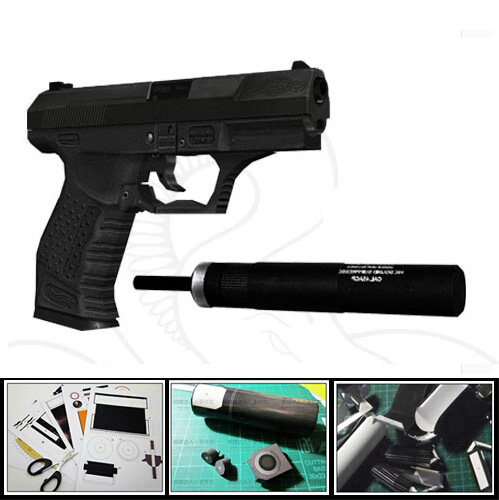 P99 Pistol Gun 007 Firearm 1:1 DIY Handmade 3D Paper Model Toy