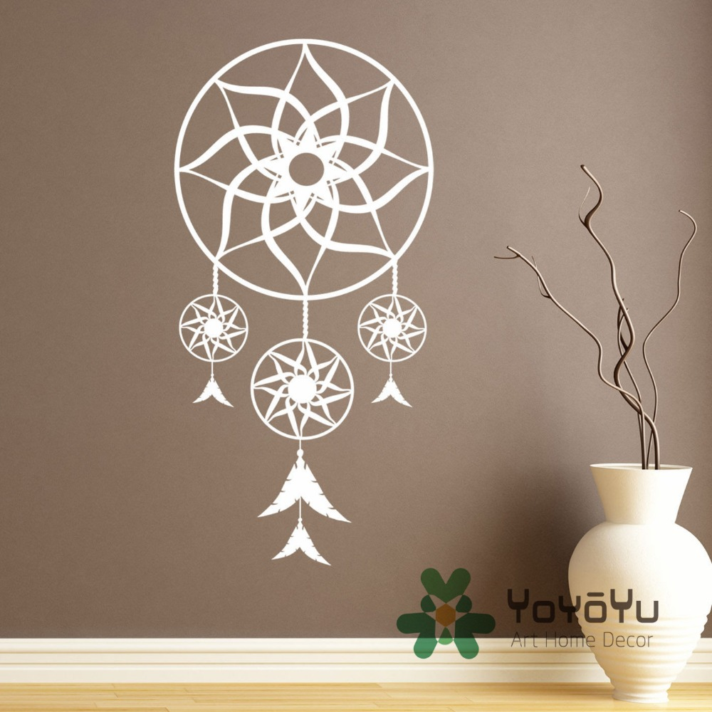 Aliexpress buy removable living room decor dream catcher aliexpress buy removable living room decor dream catcher wall sticker dreamcatcher bedroom religion wall decal home decor adesivo wa 7 from reliable amipublicfo Gallery