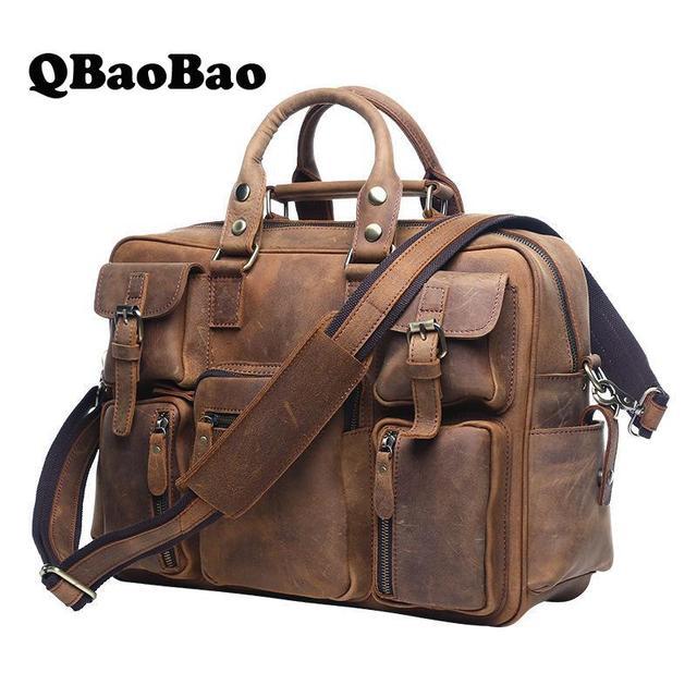Men Travel Bags Luggage Genuine Leather Retro Travel Duffle 2017 Men's Leather Travel Bag