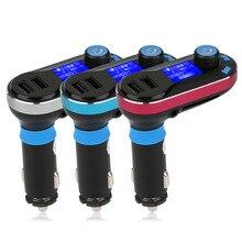 Nueva Llegada BT66 Coche Manos Libres Inalámbrico Bluetooth Car Kit FM Transmisor del Jugador de MP3 Soporta Dual USB 2.1A Cargador USB Caliente venta