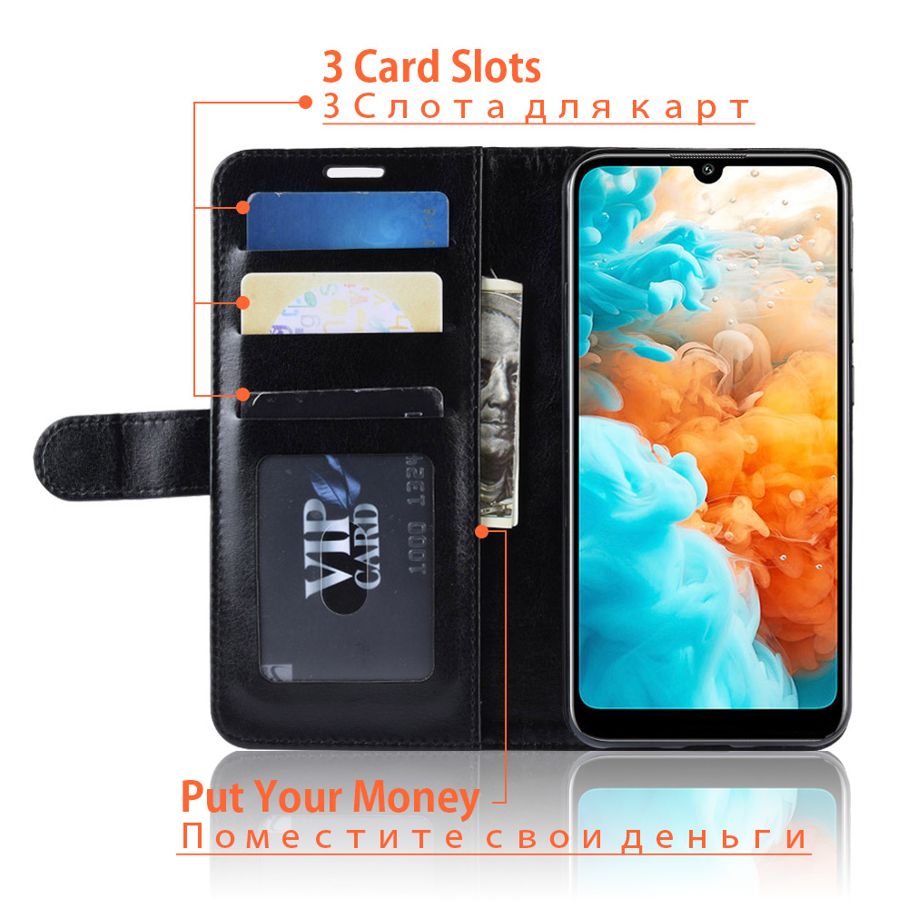 KOC3572_3_Wallet Leather Case with Card Slots and Stand for Cubot X19